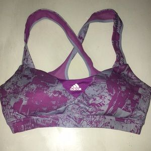 ✨2/$30 bundle✨ purple medium adidas sports bra